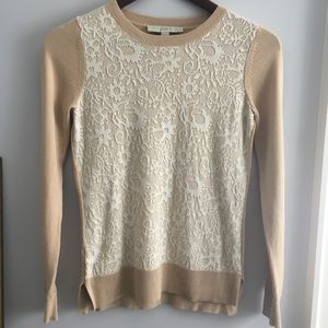 Loft sweater with lace